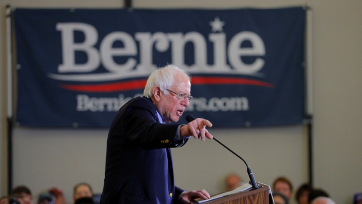 Democratic 2020 U.S. presidential candidate Sanders speaks in Concord