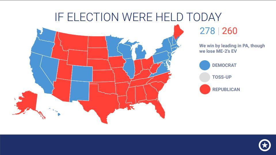 élections présidentielles 2020 carte Si la présidentielle de 2020 avait lieu aujourd'hui…   Le blogue